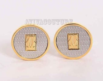 Cartier Cufflinks in Yellow Gold Plated Men Jewelry