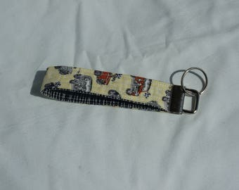 Quilted Keyring, Ky Ring, Key Fob, British Cars