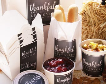 Thanksgiving Take Out Containers,To Go Container, Leftover, Thanksgiving Celebration, Christmas Celebration, Holiday Dinner, Christmas Label