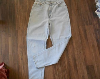 Vintage Ladies Levis - Size  16 Long - 512 Slim Fit Tapered Leg - Zipper Closure Jeans  - Uniform Faded Denim
