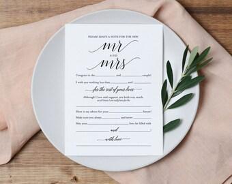Wedding Mad Libs, Mad Libs Wedding, Wedding Madlibs, Wedding Games, Wedding Advice, Advice Cards, PDF Instant Download #BPB310_20