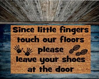 Leave shoes at the door
