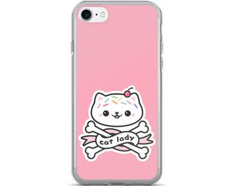Cute Cat Lady iPhone 7 and 7 Plus Cases