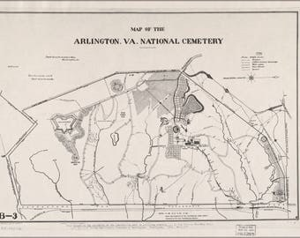 Poster, Many Sizes Available; Map Of Arlington, Virginia National Cemetery 1892