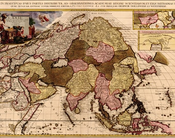 Poster, Many Sizes Available; Map Of Asia 1680 In French