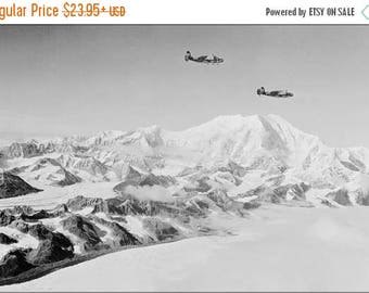 20% Off Sale - Poster, Many Sizes Available; Army Air Force Lockheed A-29 Hudson Mount Mckinley, 1942