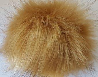 Pompom faux soft faux fur pompom for hats  handbag for keychain large fluffy faux fur pompom for purse pom poms for crafts
