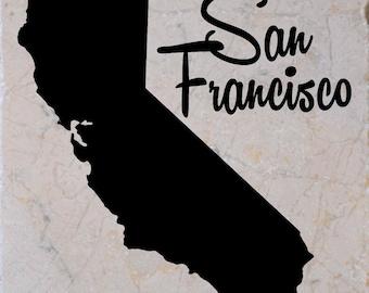 "Set of 4 ""San Francisco California"" Coasters.  Free Shipping"