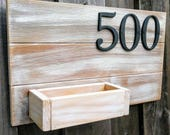 Address sign |  planter b...