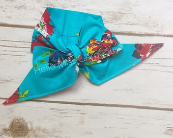 TROPICAL GARDEN Gorgeous Wrap- headwrap; fabric head wrap; floral head wrap; boho; newborn headband; baby headband; toddler headband
