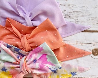 Gorgeous Wrap Trio (3 Gorgeous Wraps)- Lavender, Peach Sugar & Dreamy Floral Gorgeous Wraps; headwraps; fabric head wraps; bows