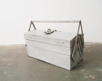 Tool box metal, old metal box, Toolbox, industrial box, chic, metal box, craftsman