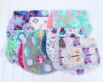 Baby Girl Burp Cloths - Set of 7 - Baby Shower Gift - Baby Gift - Aztec - Woodland - Arrow