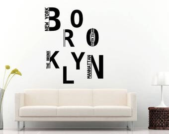 Brooklyn Decal Etsy - Custom vinyl decals brooklyn