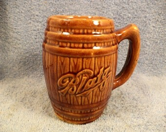 Blatz Beer Stoneware Crock Pottery Beer Mug