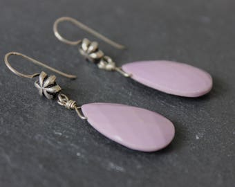 Phosphosiderite and Sterling Silver Earrings