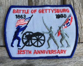 Battle of Gettysburg 125th Anniversary Vintage Souvenir Patch - Still In Original Package