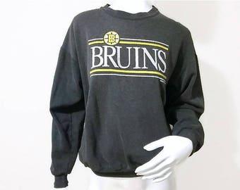 Vintage Boston Bruins Sweater - 1988 - Hockey Sweatshirt - NHL - Crew neck - Size Small