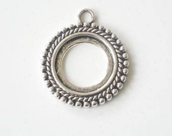 Support cabochon 20mm antique silver pendant