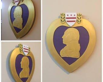 Purple Heart Medal Sign