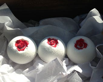 BATH BOMB TRIO-LoveMe Rose Petal Romance Bath Bomb Trio