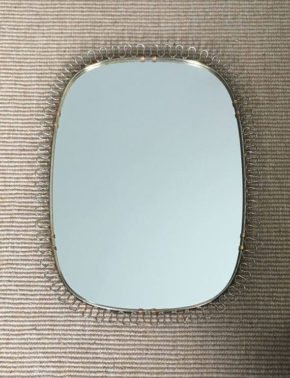 Vintage Swedish Josef Frank for Svenskt Tenn brass loop frame mirror