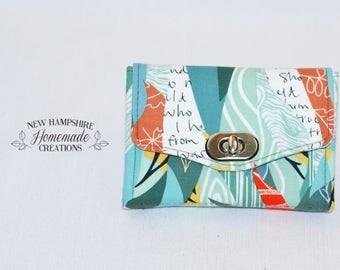 The Mini Necessary Clutch Wallet - NCW - Natural Tones Fabric