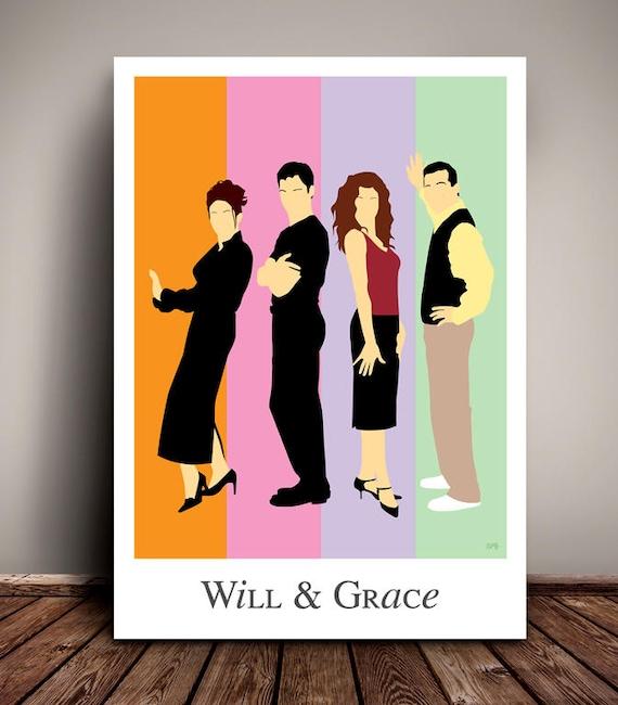 Will & Grace // Minimalist TV Poster // Unique A4 / A3 Art Print