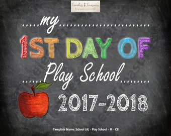 School (A) - My First Day of Play School