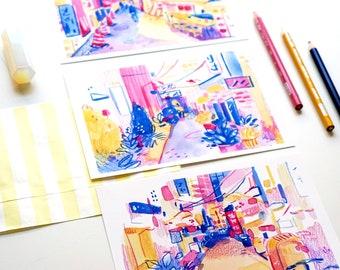 Tokyo Alleys - Set of 3 or Individual - ART PRINTS