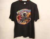 Vintage 80's Molly Hatchet Tour Shirt Medium Large