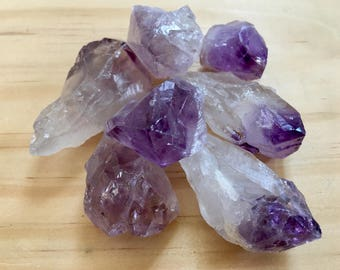Amethyst Crystals-Raw Amethyst-Amethyst Rough-Natural Crystals-Rocks and Minerals-Healing Crystals-Amethyst Stone-Amethyst Rocks-Crystals