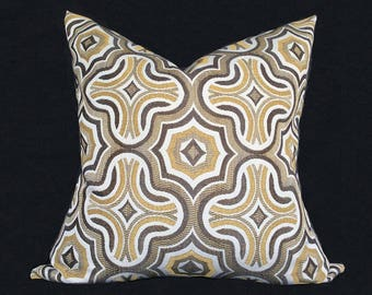 Decorative pillow cover, Cushion, Throw pillow cover, Beige Yellow pillow cover, Accent Pillow