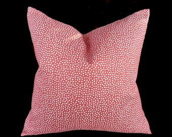 Coral pillow cover, Decorative pillow, Pink Pillow cover, Throw pillow cover, Coral white, Euro pillow, accent pillow, throw pillows