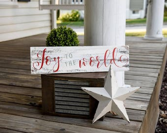 Joy to the world rustic pallet sign.  Christmas, Christmas sign, Christmas decor, Rustic Christmas sign,Joy to the world,Christmas wood sign
