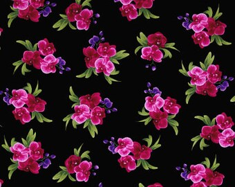 Wild Orchid Bouquet / custom fabric