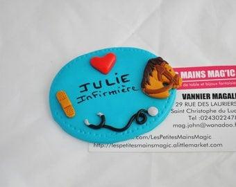 badge hospital nurse, caregiver, IADE, Director of nursery, ASH or veterinarian or customizable