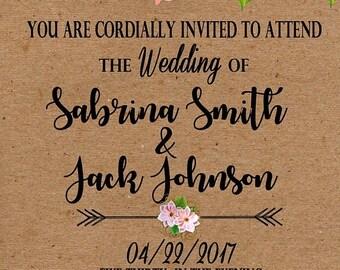 ON SALE 30% OFF Wedding Invitation