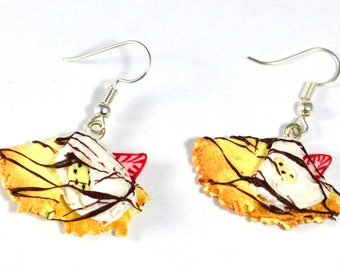 Earrings dangle polymer clay pancakes miniatures