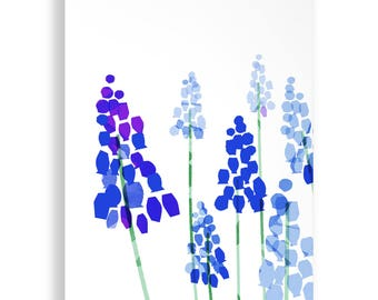 Bluebell Garden Bright Print A4 and A3