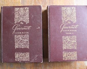Vintage The Gourmet Cookbook 1st Edition 1950 Volume 1 and 1957 Volume 2 Set