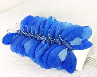 12 Blue Butterflies 3.5 Inches Feather Butterflies Wedding Butterflies Scrapbooking Craft Supplies Craft Butterfly Cake Topper