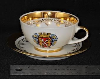 Demitasse Tea cup and Saucer German ESchenbach -Bavaria, Germany  Kirn A.D. Naha Demitasse Tea Cup and Saucer