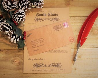 Letter from Santa (Father Christmas) - Christmas in July - Personalised, rustic, authentic keepsake letter