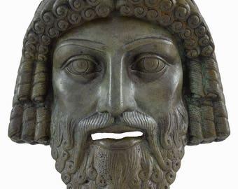 Bronze mask of Zeus God King of all ancient Greek Gods