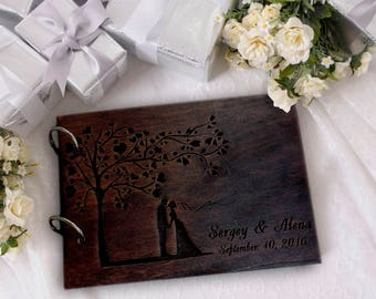 Personalised Wedding Guest Book Alternative Ideas Rustic Wedding Guest Book Wooden Wedding Guest Book Wood Guestbook Custom Guest book