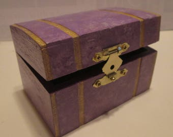 Jewelry Box/ TreasureChest Lavendar Series