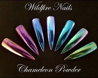 Unicorn Mermaid Metallic Duo-Chrome Chameleon Powder Colour-Changing Nail Art Salon Chrome Powder