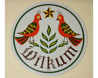 Vintage Pennsylvania Dutch Zook Hex Sign Two Birds