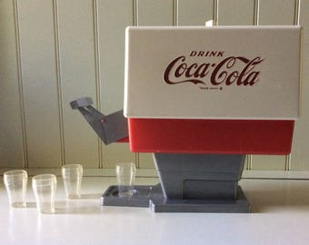 Vintage Coca Cola Toy Soda Dispenser/Toy Coke Dispenser/Toy Coca Cola Dispenser/Coca Cola Collectible/Vintage Coca Cola Toys/Coke Dispenser